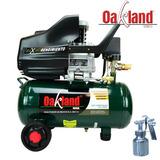 Compresor 2.5 Hp Oakland 25 Lts + Pistola P/pintar