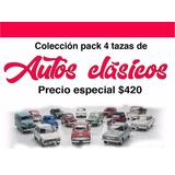 Colección Tazas De Autos Clásicos