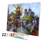 Pintura Numerada Passeio Em Paris Les Bouquinistes