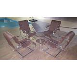 Jogo Terraço Piscina,cadeiras,fibra Sintética Alumínio Área