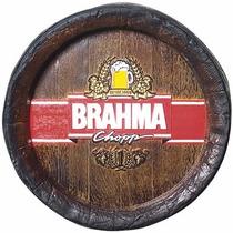 Quadro Tampa De Barril Decorativa Grande Brahma Chopp