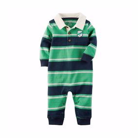 Roupas De Bebe Macacão Carters Polo Rugby Azul Verde