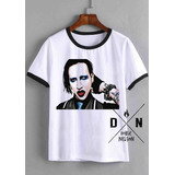 Remera Marilyn Manson Doble Nelson Mujer Camiseta Metal