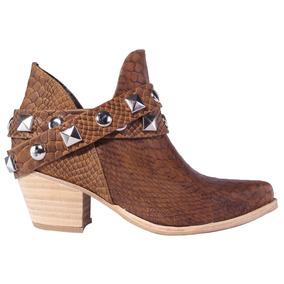Texanas Mujer Botas Botitas Botinetas Cuero Tops Zapatos