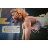 Madonna Antiguo Poster + Ticket Entrad Estadio River $200