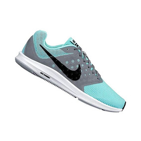 Tenis Nike Downshifter 7 Azul/gris Mujer 100% Originales