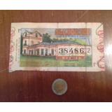 Antiguo Billete Loteria Provincia De Buenos Aires Año 1981