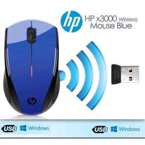 Mouse Inalambrico Hp X3000 2.4ghz Rojo Y Azul Nuevos