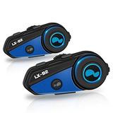 Lexin 2x Lx -b2 Motofã?n Bt Interphone Casco Moto Bluetooth