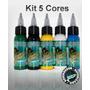 Kit Com 5 Tintas Para Tatuagens Electric Ink