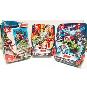 3 Rompecabezas De Avengers Originales Disney Ironman Hulk