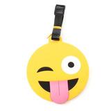 Etiqueta Mala Viagem - Tag - Identificação Bagagem Emoji