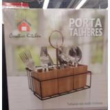Porta Talheres C/ Base De Metal E Frete Grátis!!!!