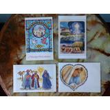 Lote 4 Antiguas Tarjetas Felicidades - Pintores Sin Manos