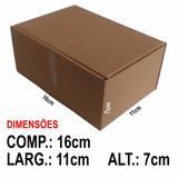 Caixa De Papelão 16x11x7 Cm, Sedex/pac, Kit 50 Un.