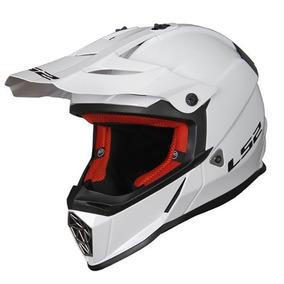Jv-ventas Casco Motocross Ls2 Mx 437 Blanco