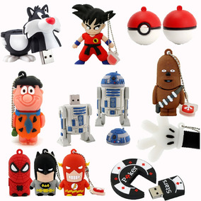 Flash Drive Memoria Pendrive Usb Star Wars Superhero Varios