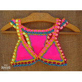Biquíni Panicat Kiini Neon Crochê Tendência Promoção Verão
