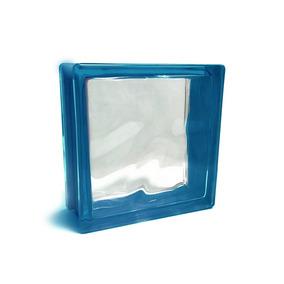 Porcelamika Ladrillo De Vidrio Color Azul 19x19x8 Cm