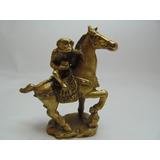 Estátua Amuleto De Metal Bronze Macaco E Cavalo