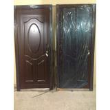 Puertas De Seguridad Tipo Multi-lock Color Marron Metalica