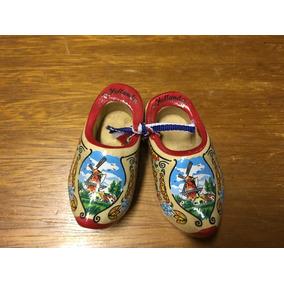 Mini Sapatos Madeira Folclore Holandês