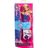 Barbie Fashionista Bestido Azul Zapatos Rosas Super Cool