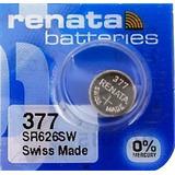 Batería Pila Renata 377 1.55 V Para Reloj Oxido De Plata