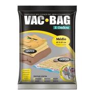 Saco À Vácuo Protetor Organizador Roupa Vac Bag Médio 45x65