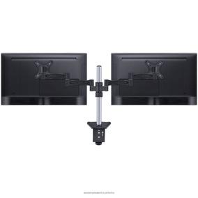 Suporte P/ 2 Monitores Led Lcd Aço Articulado Alta Qualidade
