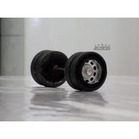 Rodas De Resina Para Miniaturas De Caminhão Escala 1:32