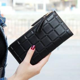 Carteira Longa Feminina De Couro Pu Herald Fashion