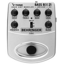Pedal Behringer P/ Baixo Bdi21 Simulador / Direct Box