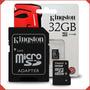 Memoria Micro Sd 32 Gb Kingston Class 4 Sellada - Delivery
