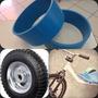 Tubo Azul 10,8cm Capa Roda 10x11-5 Drift Trike 11cm 2pç