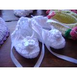 Escarpines Y Zapaticos Tejidos A Mano Para Recien Nacidos
