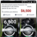 Potente Estereo Panasonic Bocinas 15s