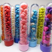 50 - Tubetes 13cm Tampa Plástico - Melhor Preço