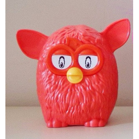 1 Personagem Furby Laranja Plástico Mc Donalds 8cm