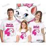Lembrança De Aniversario Gata Marie Camiseta Kit Com 3