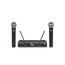 Microfone S/ Fio Dylan Dw602 Uhf Duplo-2 Bastões-nota Fiscal