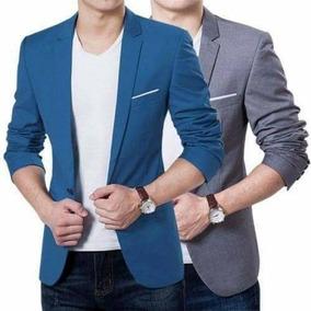 Blazers Elegante Slim Fit Azul /gris/negro Y Burdeo