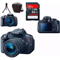 Câmera Canon Eos T5i 18-55 Stm+bolsa+tripé+32gb+garantia