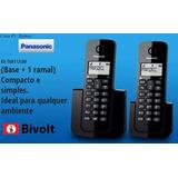 2 Telefone Sem Fio C/ Ramal Escritório Residencial Panasonic