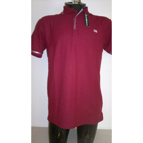 Camisa Playera Tipo Polo Armani Exchange Color Vino