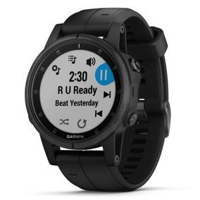 Relógio Garmin Fenix 5s Plus Safira Preto Rv. Autorizada