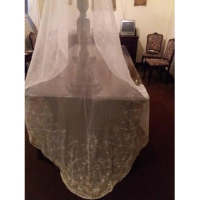 Véu De Noiva Francês Feito A Mão Da Década De 50