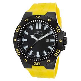 Relógio Invicta Pro Diver 23513 Preto Com Amarelo 52mm !