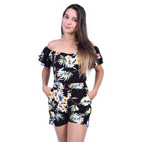 Macaquinho Estampado Feminino Valentina - Asya Fashion
