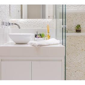 Bancada Banheiro Mármore Branco Prime 90x50